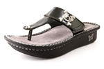 Alegria Carina Charcoal womens leather sandal flip flop on sale