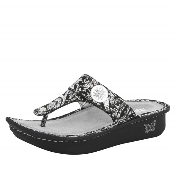 Alegria Carina Medieval womens leather thong sandal