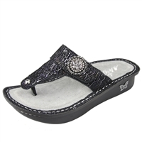 Alegria Carina Totally Cellular womens leather thong sandal