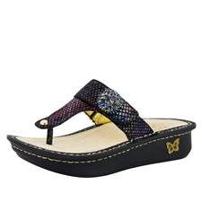 Alegria Carina Gemboree womens leather thong sandal