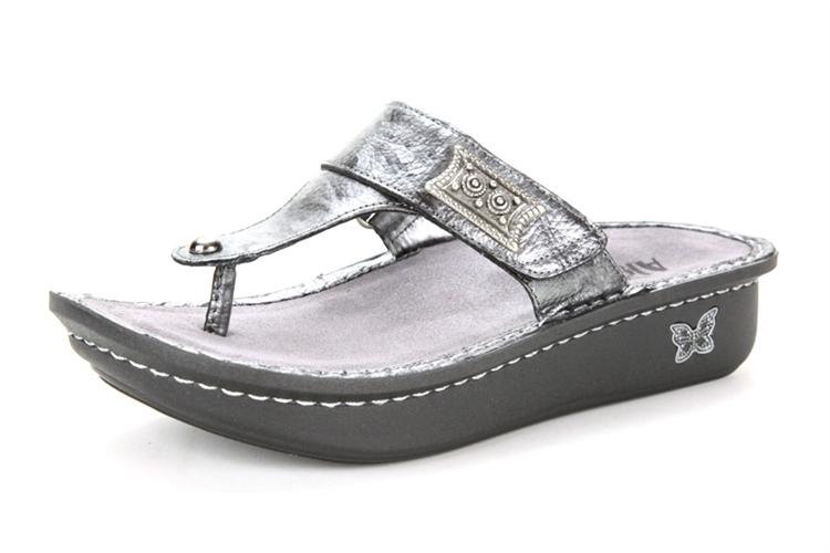 Alegria Carina Pewter Black Tumble Sandals Original