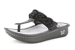 Alegria Carina Black Rope leather sanda for women on sale