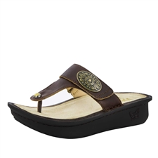 Alegria Carina Hickory womens leather thong sandal