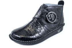 Alegria Caiti Black Embossed Rose