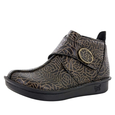 Alegria Caiti Bronze Leaf womens comfort ankle boot