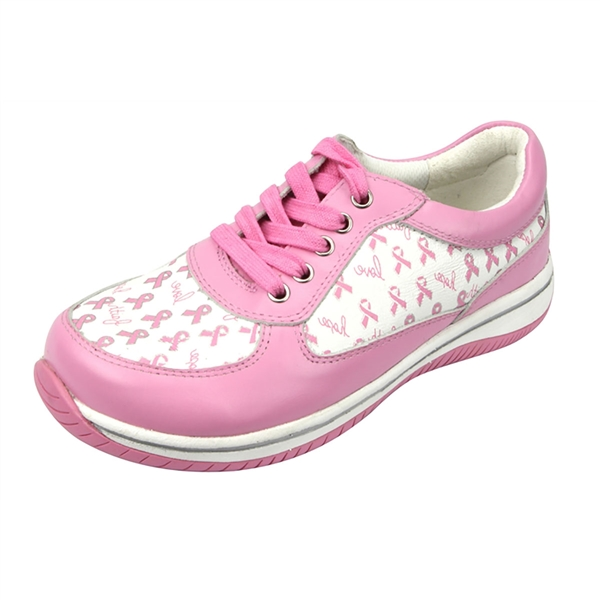Alegria Cindi Pro Pink Ribbon Power womens leather athletic shoe
