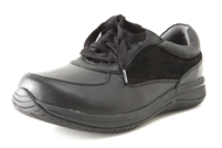 Alegria Cindi Black womens athletic comfort lace up shoe