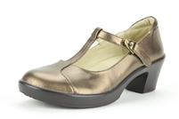Alegria Coco Bronze t-strap womens leather dress shoe