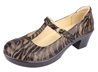 Alegria Coco Safari leather t-strap comfort dress shoe for women