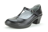 Alegria Coco Black Napa womens leather t-strap career dress shoe