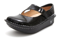 Alegria Dayna Black Patent professional nursing shoe for women