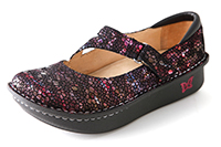 Alegria Dayna Red Metallic Fun womens comfort mary jane