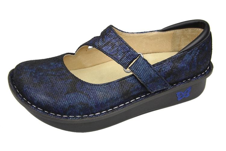 Nurse Alegria Shoes Dayna Blue Twist Mary Jane Alegria