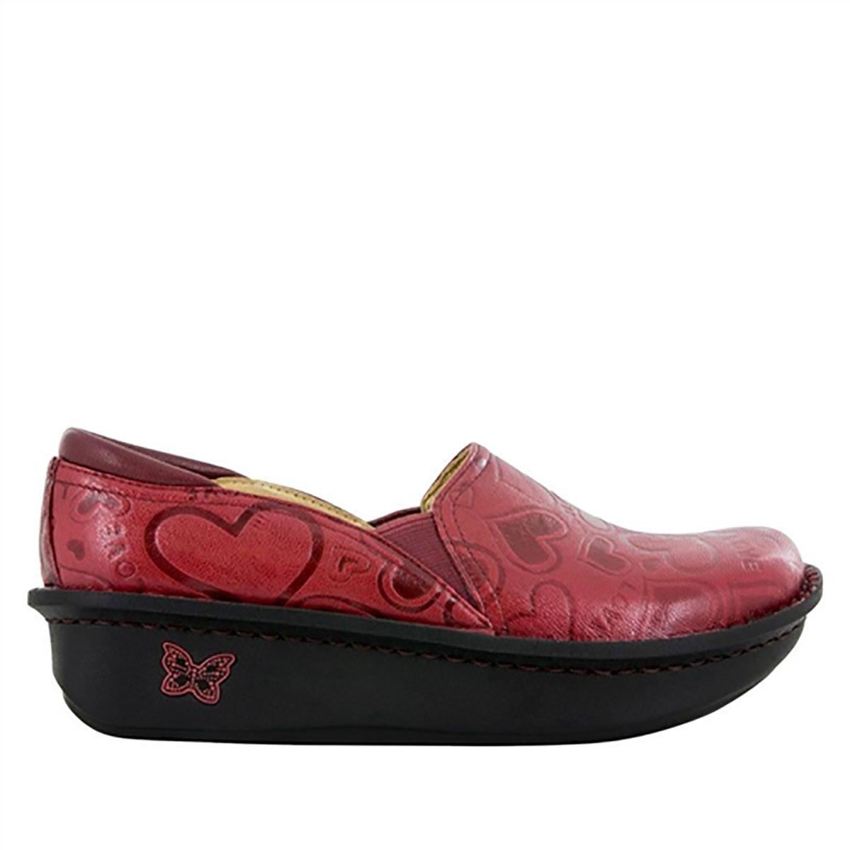 Nurse Alegria Debra I Heart U Red Nursing Shoes