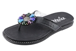 Alegria Diana Black womens black beaded flip flop on sale