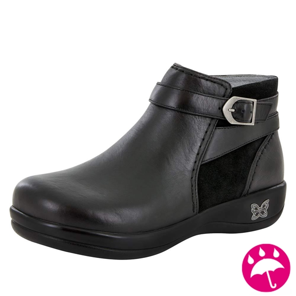 Alegria Dylan Black Nappa waterproof womens comfort boot