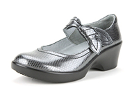 Alegria Ella Pewter Snake slip resistant dress shoes for women