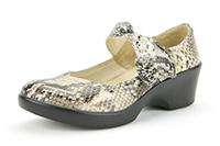 Alegria Ella Gold Span Snake womens dress mary jane shoes