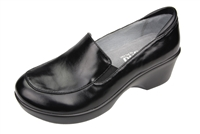 Alegria Emma Black Waxy slip resistant dress shoes for women