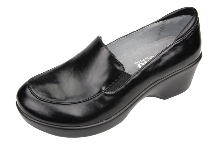 Alegria Shoes Emma Black Waxy Dress Loafer Alegria