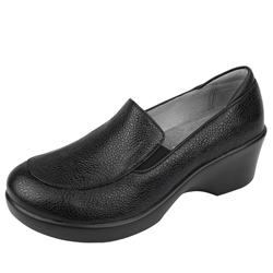 Alegria Emma Masonry Black slip resistant dress shoes for women