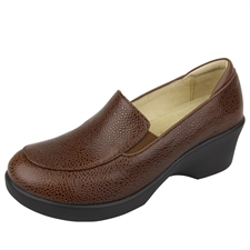Alegria Emma Masonry Choco slip resistant dress shoes for women