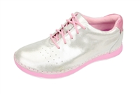 Alegria Essence White Shimmer slip resistant athletic shoe for women
