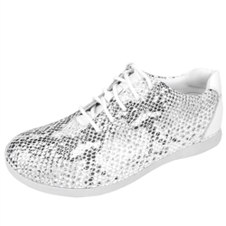Alegria Essence Posh Silver slip resistant athletic shoe for women