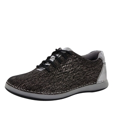 Alegria Essence Pewter Finery slip resistant athletic shoe for women