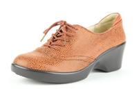 Alegria Etta Tobacco Gleam womens slip resistant oxfords on sale