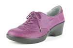 Alegria Etta Berry Gleam leather oxfords on sale for women
