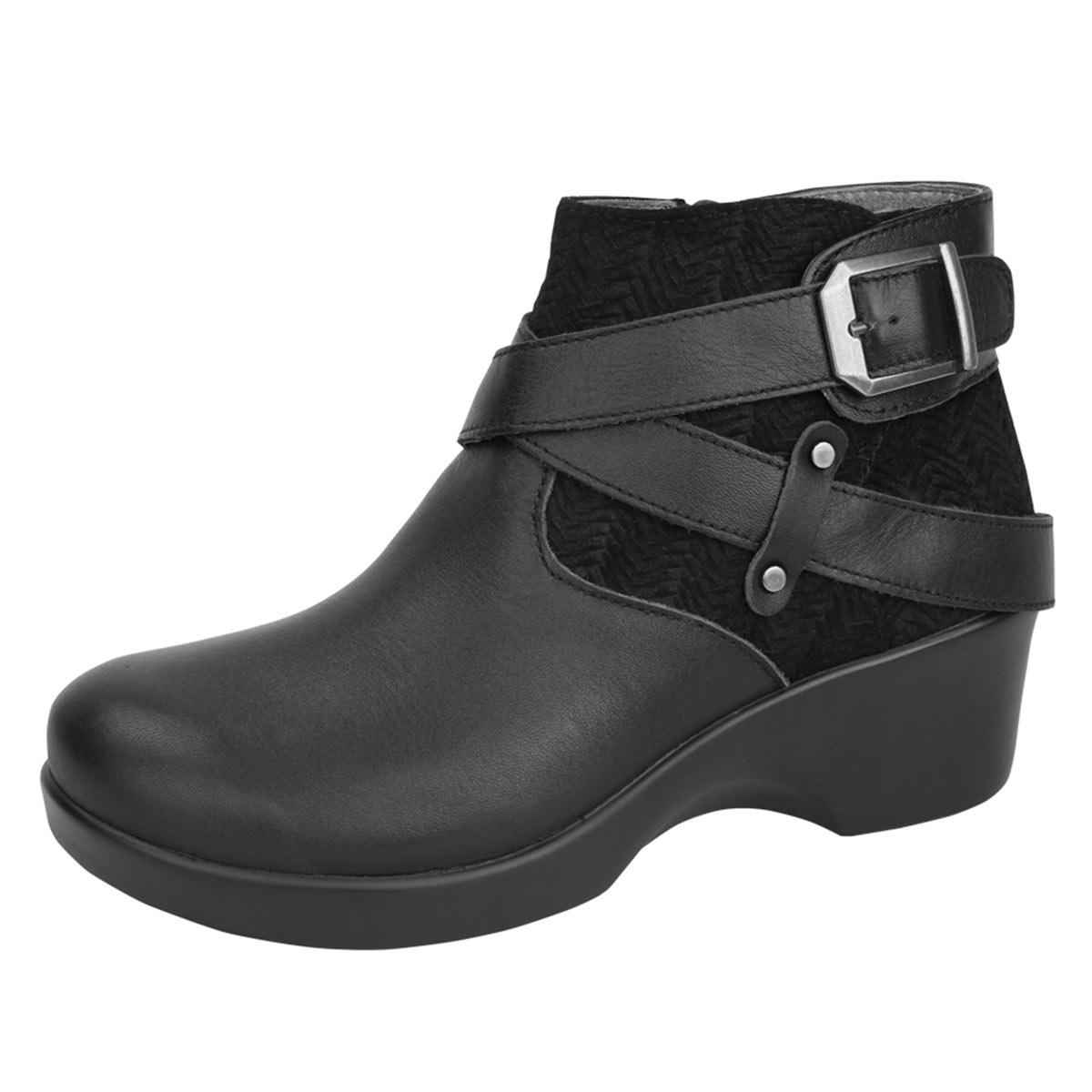 Alegria Shoes Eva Black Nappa Boots Free Shipping
