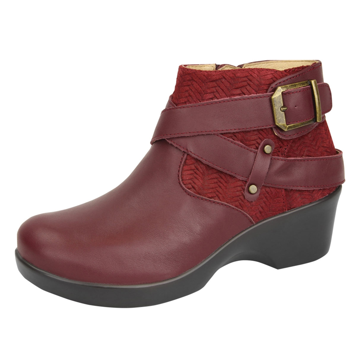 The Style Icon Burgundy Ankle Boots will inspire outfits for seasons to come! Vegan leather shapes a pointed toe and