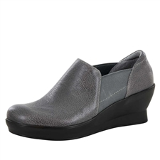Alegria Fraya Grey Glaze slip resistant dress shoes for women