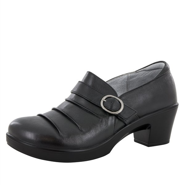 Alegria Halli Black Nappa dress loafers for women