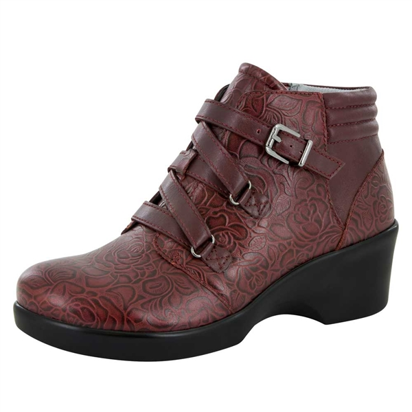 Alegria Indi Oxblood Bloom dress bootie