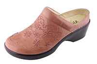 Alegria Isabelle Salmon Burnish slip resistant mule shoe for women