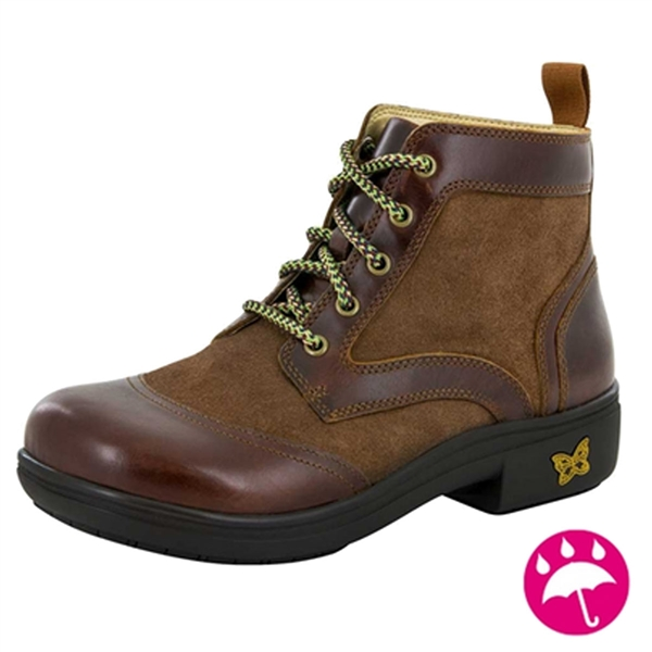 Alegria Izzy Hickory waterproof lace-up boot