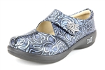 Alegria Kaitlyn Blue Rose Stamp womens stain resistant shoes