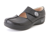 Alegria Kaitlyn Professional Black Leather womens comfort slip resistant shoes