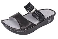 Alegria Karmen Black Mixer comfort sandals for women