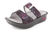 Alegria Karmen Metallic Fun womens slide on sandal on sale