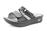 Alegria Karmen Black womens slide on sandal on sale
