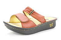 Alegria Karmen Cognac slide on comfort sandal for women