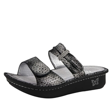 Alegria Karmen Pewter Wavy comfort sandals for women