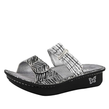Alegria Karmen Unity Black & White comfort sandals for women