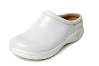 Alegria Kayla White Patent leather comfort clog for women
