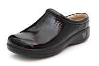 Alegria Kayla Black Patent leather clogs for women on sale