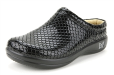 Alegria Kayla Black Droplet leather comfort slip on womens shoes