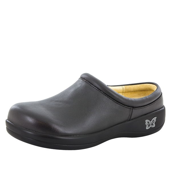 Alegria Kayla Black Leather stain resistant comfort shoe for women
